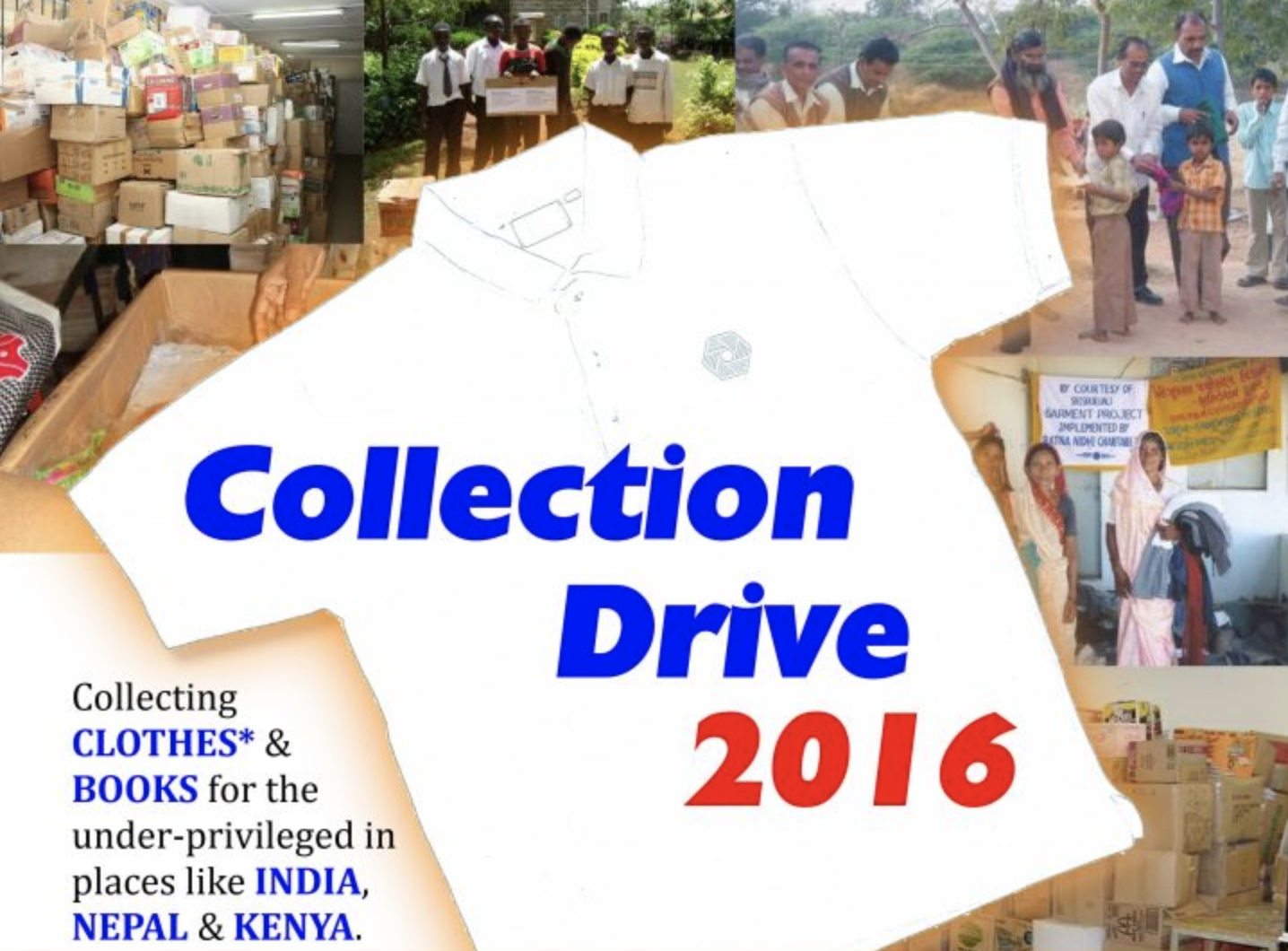 Clothes & Books Collection Drive 2016